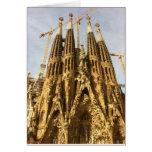 La Sagrada Familia, Barcelona, España Tarjeta