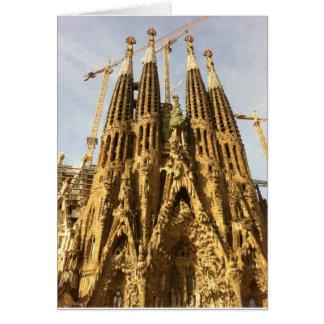 La Sagrada Familia, Barcelona, España Tarjeta De Felicitación