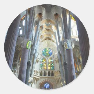 La Sagrada Familia Classic Round Sticker