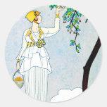 La Saison Des Prunes Mirabelles Round Stickers