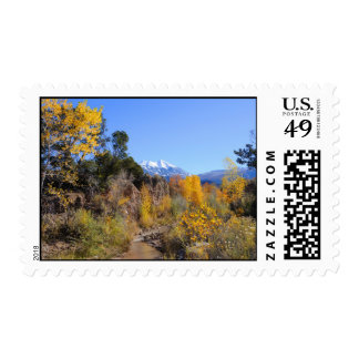 La Sal Mountains in the Fall - Utah Stamp