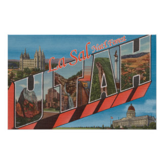 La Sal Nat'l Forest, Utah - Large Letter Posters