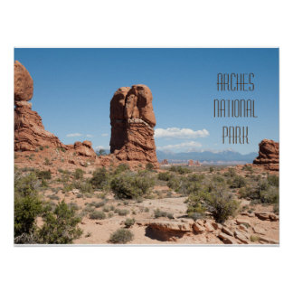 La Sal Range as Seen From Arches Ntl. Park Poster