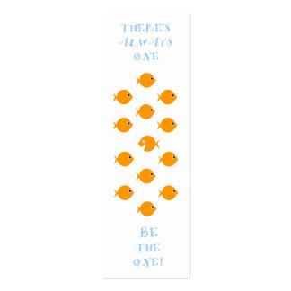 La sala de clase elemental concede señales tarjetas de visita mini