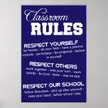 La sala de clase gobierna el poster