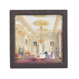 La sala de estar blanca en el castillo de Windsor Cajas De Joyas De Calidad