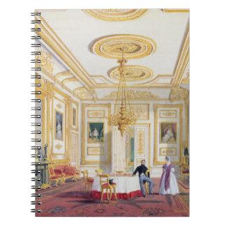 La sala de estar blanca en el castillo de Windsor  Libro De Apuntes Con Espiral