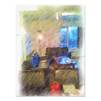 La sala de estar arte fotografico