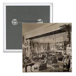 La sala de estar, Wickham Pasillo, Kent, 1897 Pin Cuadrado