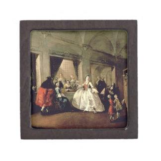 La sala del convento de San Zaccaria (aceite en el Cajas De Regalo De Calidad