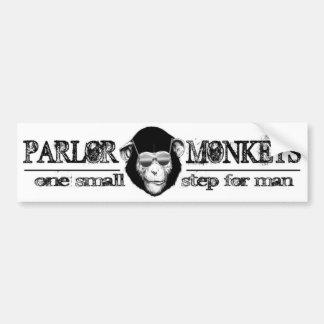 La sala Monkeys a la pegatina para el parachoques Pegatina De Parachoque