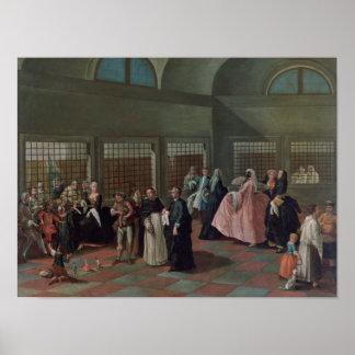 La sala que visita en el convento póster