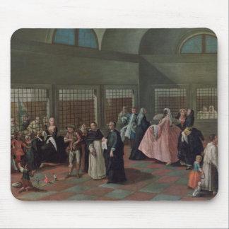 La sala que visita en el convento alfombrillas de ratones