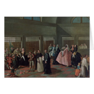La sala que visita en el convento tarjeta de felicitación