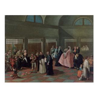 La sala que visita en el convento tarjeta postal