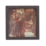 La salida, 1880 (aceite en el panel) caja de recuerdo de calidad