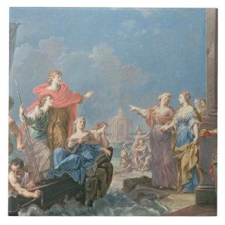 La salida de Aeneas Azulejo Cuadrado Grande
