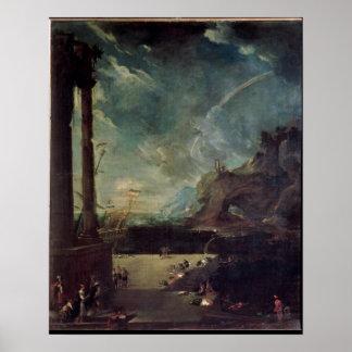 La salida de Aeneas de Cartago Posters