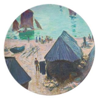 La salida de los barcos, Etretat Claude Monet Plato De Cena