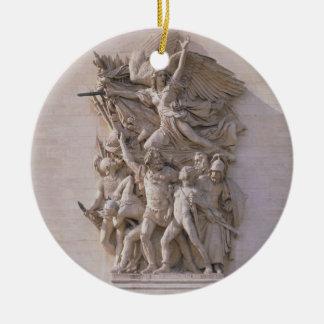 La salida de los voluntarios en 1792 o del marcha adorno navideño redondo de cerámica