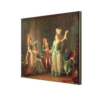 La salida del guardia del Dragoon, 1774-1819 Lona Envuelta Para Galerias