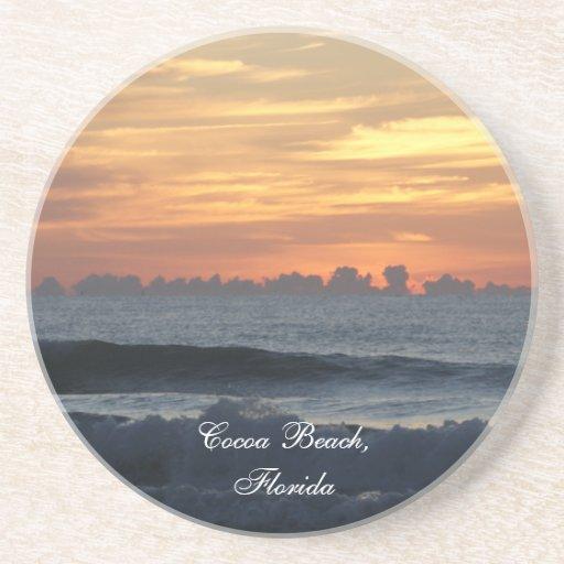 La salida del sol de la Florida de la playa del ca Posavasos Cerveza
