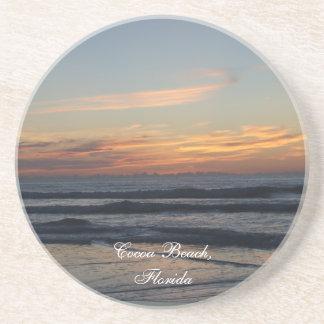 La salida del sol de la Florida de la playa del ca Posavasos Manualidades