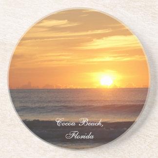 La salida del sol de la Florida de la playa del ca Posavasos Personalizados