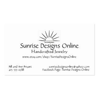 La salida del sol diseña la tarjeta de visita en l