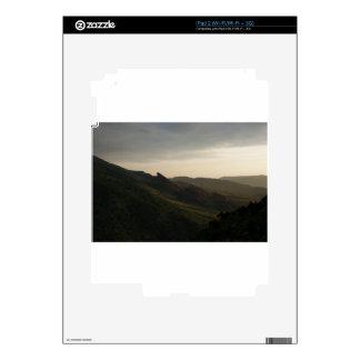 La salida del sol en el rojo oscila Colorado iPad 2 Calcomanía