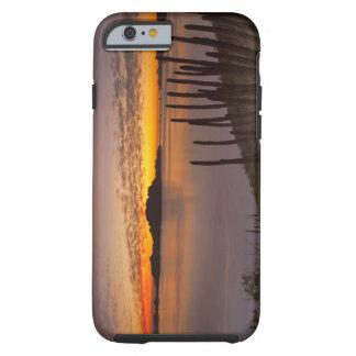 La salida del sol sobre Isla Danzante en el golfo Funda De iPhone 6 Tough