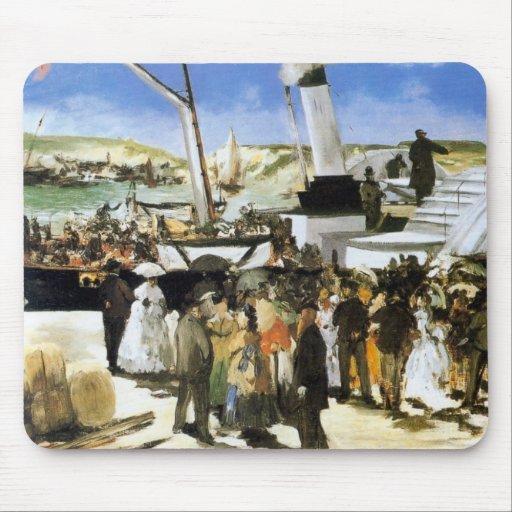 La salida del vapor de Folkestone - Manet Tapetes De Ratones