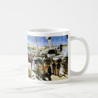 La salida del vapor de Folkestone - Manet Taza De Café