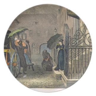 La salida, placa de 'bosquejos poéticos del Sc Plato De Cena