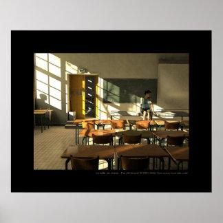 La salle de classe - la sala de clase poster