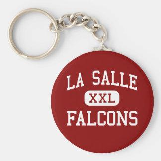 La Salle - Falcons - alto - Milwaukie Oregon Llavero Redondo Tipo Pin