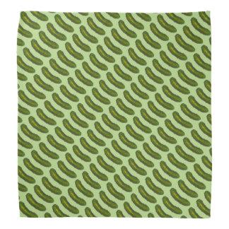 La salmuera de eneldo verde conserva en vinagre bandanas