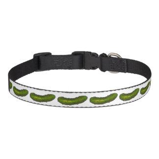 La salmuera de eneldo verde conserva en vinagre el collar para perro