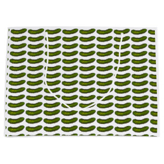 La salmuera de eneldo verde crujiente conserva en bolsa de regalo grande