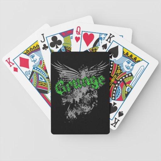 La salpicadura del Grunge se va volando verde de l Barajas De Cartas