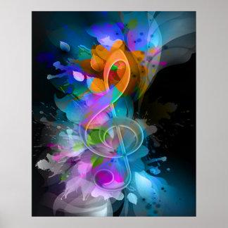 La salpicadura fresca colorida hermosa florece las posters