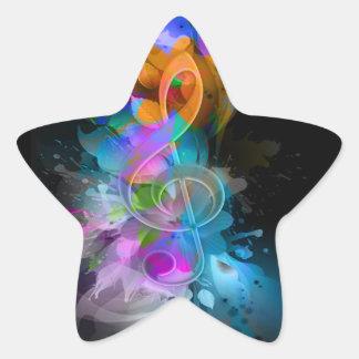 La salpicadura fresca colorida hermosa florece las pegatina en forma de estrella