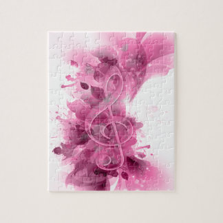 La salpicadura fresca gris rosada hermosa florece  rompecabezas con fotos