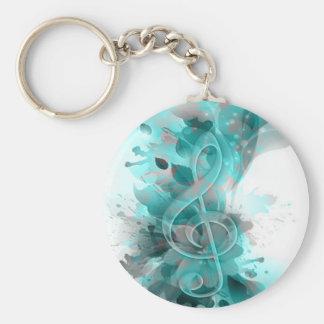 La salpicadura fresca hermosa del gris azul florec llavero personalizado