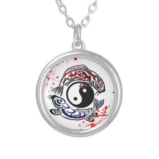 La salpicadura fresca Yin Yang Koi de la sangre pe Grimpola Personalizada