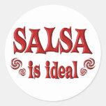 La salsa es ideal pegatina redonda