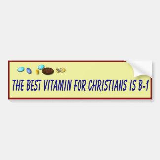 La salud cristiana aconseja pegatina para auto