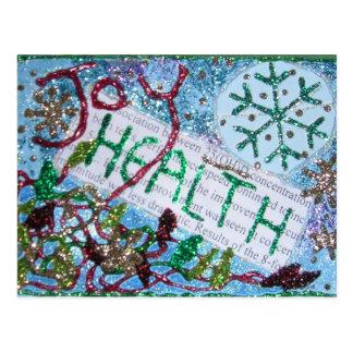 La salud es collage de la riqueza postal