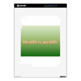 la salud es riqueza iPad 2 skins