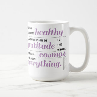 La salud es taza de la gratitud